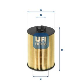 Ölfilter Ø: 57,0mm, Innendurchmesser 2: 27,0mm, Höhe: 89,5mm mit OEM-Nummer A 2661800009