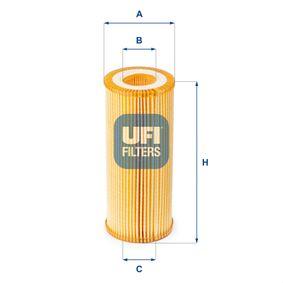 Ölfilter Ø: 66mm, Innendurchmesser 2: 31,5mm, Innendurchmesser 2: 31,5mm, Höhe: 153mm mit OEM-Nummer 06E 115 562A