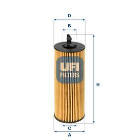 Ölfilter Ø: 63,5mm, Innendurchmesser 2: 26,0mm, Höhe: 172,0mm mit OEM-Nummer 1142 7807 177