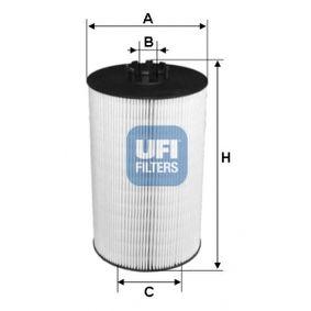 UFI  25.097.00 Ölfilter Ø: 121,0mm, Innendurchmesser 2: 14,5mm, Innendurchmesser 2: 53,0mm, Höhe: 205,0mm