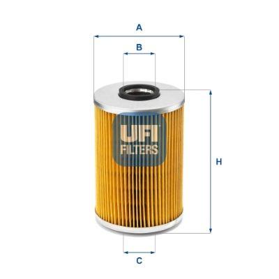 UFI  25.539.00 Ölfilter Ø: 82mm, Innendurchmesser 2: 27,5mm, Innendurchmesser 2: 27,5mm, Höhe: 128mm
