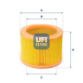 Luftfilter Höhe: 123,0mm mit OEM-Nummer 1444G0