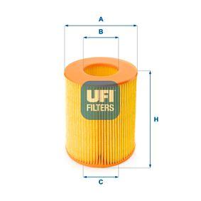 UFI  27.355.00 Luftfilter Höhe: 149,0mm