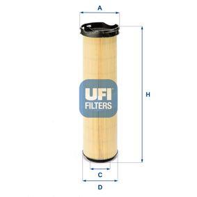 UFI  27.586.00 Luftfilter Höhe: 433,0mm