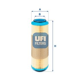 UFI  27.593.00 Luftfilter Höhe: 330,0mm