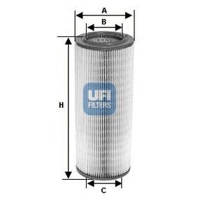 UFI  27.601.00 Luftfilter Höhe: 174,0mm