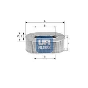 UFI  27.604.00 Luftfilter Höhe: 60,0mm