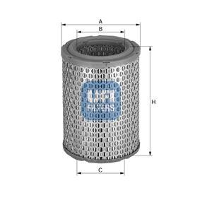Luftfilter Höhe: 142mm mit OEM-Nummer 4146051