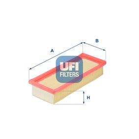 UFI  30.032.00 Luftfilter Länge: 230,0mm, Breite: 90,0mm, Höhe: 48,0mm