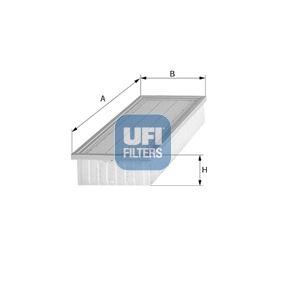 Luftfilter Länge: 282,0mm, Breite: 159,5mm, Höhe: 57,0mm, Länge: 282,0mm mit OEM-Nummer 4236030