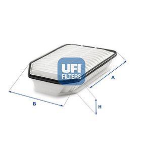Luftfilter Länge: 315,0mm, Breite: 150,0mm, Höhe: 69,5mm mit OEM-Nummer 17801 0B020
