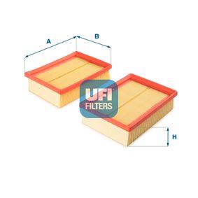 Luftfilter Länge: 185,0mm, Breite: 140,0mm, Höhe: 49,0mm mit OEM-Nummer 030198620