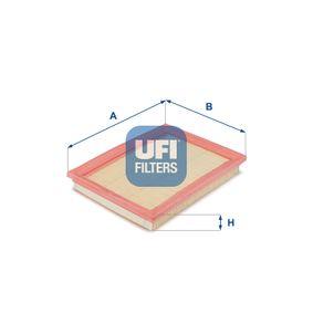 Luftfilter Länge: 217mm, Breite: 168mm, Höhe: 30mm, Länge: 217mm med OEM Nummer 2S61960-1CA