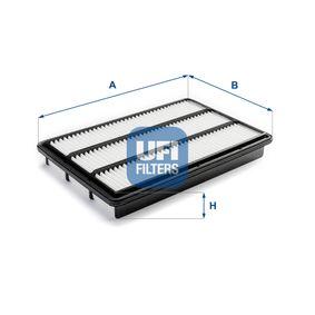 Filtro de aire Long.: 362,0mm, Ancho: 236,0mm, Altura: 51,5mm con OEM número MR 404847