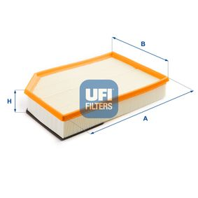 UFI  30.274.00 Luftfilter Länge: 327,0mm, Breite: 215,0mm, Höhe: 66,0mm