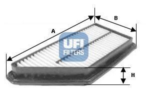 UFI  30.337.00 Luftfilter Länge: 234,0mm, Breite: 173,0mm, Höhe: 47,0mm