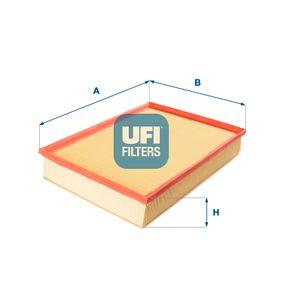 UFI  30.340.00 Luftfilter Länge: 355,0mm, Breite: 265,0mm, Höhe: 58,0mm