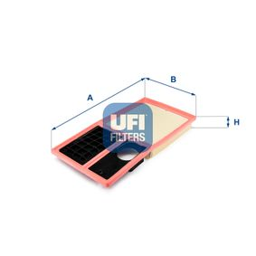 Luftfilter Länge: 372,0mm, Breite: 190,0mm, Höhe: 43,0mm mit OEM-Nummer 036129620M