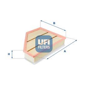 UFI  30.357.00 Luftfilter Länge: 301,0mm, Breite: 236,0mm, Höhe: 65,0mm