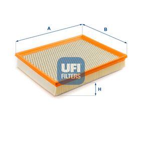 UFI  30.406.00 Luftfilter Länge: 324,0mm, Breite: 256,5mm, Höhe: 55,0mm