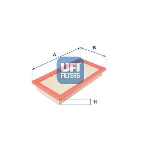 Luftfilter Länge: 298,0mm, Breite: 157,5mm, Höhe: 36,5mm mit OEM-Nummer 7 633 139