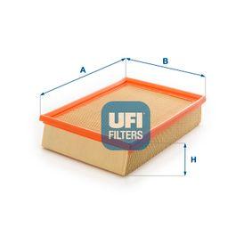 Luftfilter Länge: 276,0mm, Breite: 185,0mm, Höhe: 57,0mm mit OEM-Nummer 1L0129620