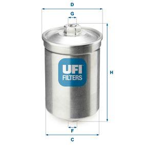 UFI Kraftstofffilter 31.502.00 für AUDI 90 (89, 89Q, 8A, B3) 2.2 E quattro ab Baujahr 04.1987, 136 PS