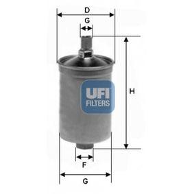 UFI Kraftstofffilter 31.503.00 für AUDI 80 (81, 85, B2) 1.8 GTE quattro (85Q) ab Baujahr 03.1985, 110 PS