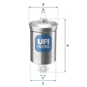 Filtro carburante Alt.: 175,0mm con OEM Numero 811 133 511B