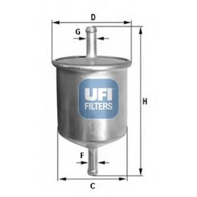 Kraftstofffilter Höhe: 124mm mit OEM-Nummer 16400 V2700