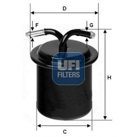 Kraftstofffilter Höhe: 122,0mm mit OEM-Nummer 42072PA010