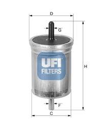 UFI  31.561.00 Kraftstofffilter Höhe: 158,0mm