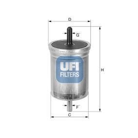 Kraftstofffilter Höhe: 128mm mit OEM-Nummer 7700820375