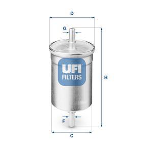 Kraftstofffilter Höhe: 141,5mm mit OEM-Nummer 1567-81