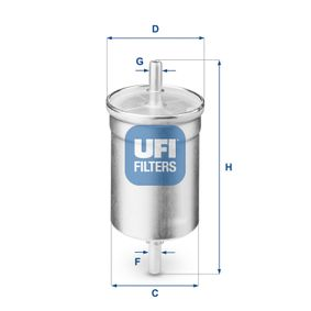 Kraftstofffilter Höhe: 141,5mm mit OEM-Nummer 1567 93