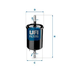 Fuel filter Height: 162mm with OEM Number 96335-719