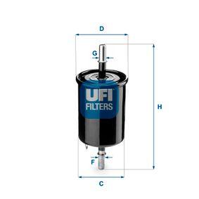 Filtro combustible 31.843.00 MATIZ (M200, M250) 0.8 ac 2018