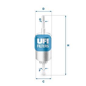 Kraftstofffilter Höhe: 205mm mit OEM-Nummer 1 140 129