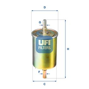 Filtro combustible 31.850.00 KALOS 1.4 16V ac 2006