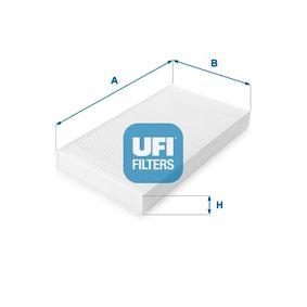 Filter, Innenraumluft Länge: 290,0mm, Breite: 160,0mm, Höhe: 30,0mm mit OEM-Nummer 46442422