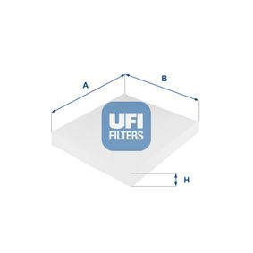 Filter, interior air Length: 252mm, Width: 216mm, Height: 31mm with OEM Number 6Q0 820 367