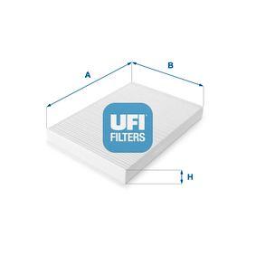 Filter, Innenraumluft Länge: 298,5mm, Breite: 205mm, Höhe: 30mm mit OEM-Nummer 8 E0 819 439