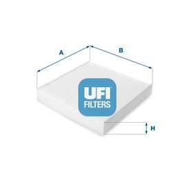 Filter, Innenraumluft Länge: 221,0mm, Breite: 222,0mm, Höhe: 35,0mm mit OEM-Nummer 6447-KR