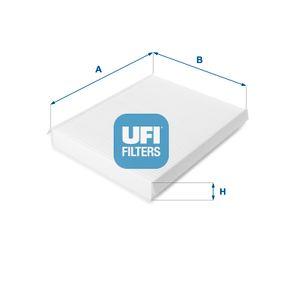 Filter, Innenraumluft Länge: 255mm, Breite: 200,5mm, Höhe: 30mm mit OEM-Nummer 6447-FF