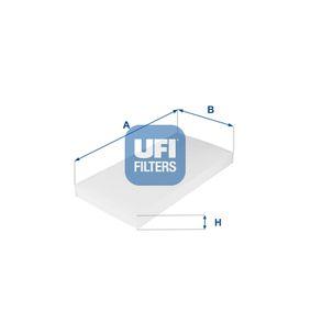 Filter, Innenraumluft Länge: 331mm, Breite: 163mm, Höhe: 31mm mit OEM-Nummer 5 180 5219