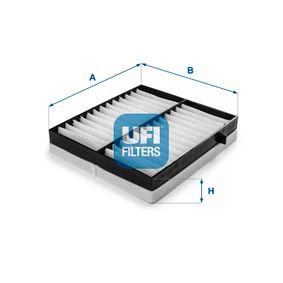 Filter, Innenraumluft Länge: 235,0mm, Breite: 213,0mm, Höhe: 40,0mm mit OEM-Nummer 163 835 0247