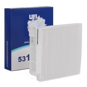 Filter, interior air 53.104.00 Note (E11, NE11) 1.5 dCi MY 2012