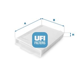 Filter, Innenraumluft Länge: 249,0mm, Breite: 181,0mm, Höhe: 29,5mm mit OEM-Nummer 7 701 055 109