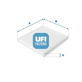 Filter, Innenraumluft Länge: 226,0mm, Breite: 202,0mm, Höhe: 17,0mm mit OEM-Nummer 97133 2E210