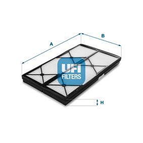 Filter, Innenraumluft Länge: 368mm, Breite: 210mm, Höhe: 27mm mit OEM-Nummer 0018353047